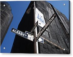 Albany And Washington Acrylic Print by Rob Hans