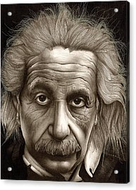 Albert Einstein-millenium Man Acrylic Print by Lee Appleby