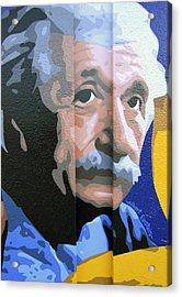 Albert Einstein Acrylic Print by Roberto Valdes Sanchez