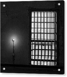 Alcatraz I Bw Sq Acrylic Print by David Gordon