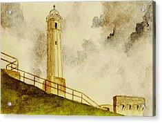 Alcatraz Island Lighthouse Acrylic Print by Michael Vigliotti