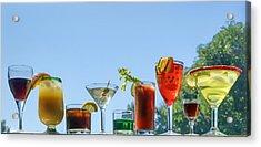 Alcoholic Beverages - Outdoor Bar Acrylic Print by Nikolyn McDonald