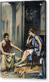 Alexander & Aristotle Acrylic Print by Granger