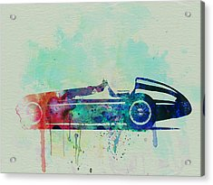 Alfa Romeo Tipo Watercolor Acrylic Print by Naxart Studio