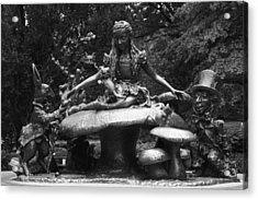 Alice In Wonderland Sculpture Central Park Acrylic Print by Christopher Kirby
