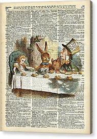Alice Morning Tea Time Acrylic Print by Jacob Kuch