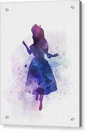 Alice Acrylic Print by Rebecca Jenkins