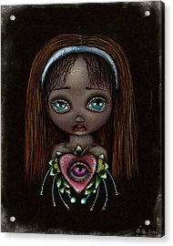 Alicia Acrylic Print by  Abril Andrade Griffith