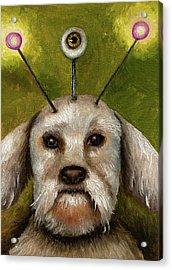 Alien Dog Acrylic Print by Leah Saulnier The Painting Maniac