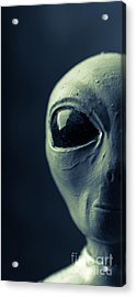 Alien Half Profile Phone Case Acrylic Print by Edward Fielding