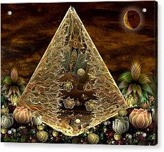Alien Pyramid Acrylic Print by Peggi Wolfe