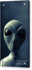 Alien X-files Phone Case Acrylic Print by Edward Fielding