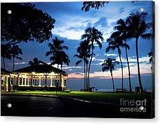 Alii Kahekili Nui Ahumanu Beach Park Hanakaoo Kaanapali Maui Hawaii Acrylic Print by Sharon Mau