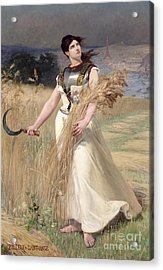 Allegory Of France Acrylic Print by Georges Louis Poilleux Saint Ange