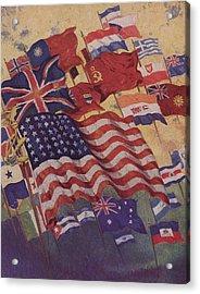 Allied Flags - World War II  Acrylic Print by American School