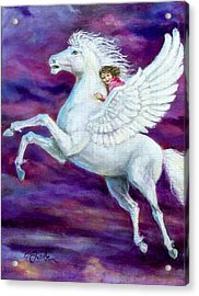 Allie's Dream Acrylic Print by Edward Farber