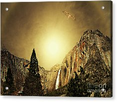 Almost Heaven . Full Version Acrylic Print by Wingsdomain Art and Photography