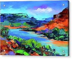 Along Colorado River - Utah Acrylic Print by Elise Palmigiani