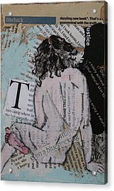 Alphabet Nude T Acrylic Print by Joanne Claxton
