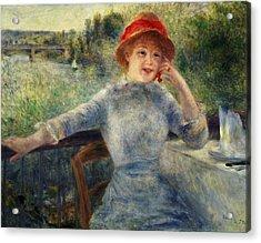 Alphonsine Fournaise Acrylic Print by Pierre Auguste Renoir