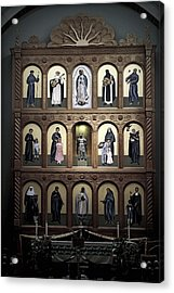 Altar Screen Cathedral Basilica Of St Francis Of Assisi Santa Fe Nm Acrylic Print by Christine Till