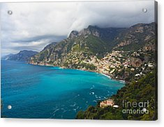 Amalfi Coast Scenic Vista At Positano Acrylic Print by George Oze