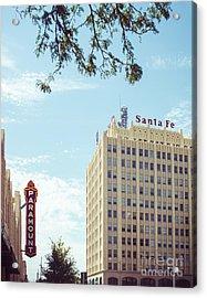 Amarillo Landmarks Acrylic Print by Sonja Quintero