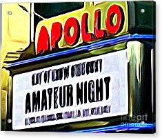 Amateur Night Acrylic Print by Ed Weidman