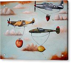 Amazing Race 2 Acrylic Print by Leah Saulnier The Painting Maniac
