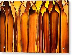 Amber Abstraction Acrylic Print by Joe Bonita