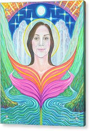 Amber - Lady Of Light Acrylic Print by Debra A Hitchcock