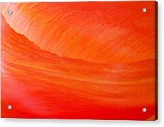 Amber Wave Acrylic Print by Az Jackson