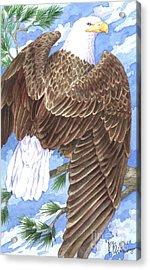 American Eagle Acrylic Print by Paul Brent