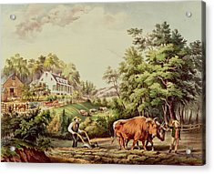 American Farm Scenes Acrylic Print by Currier and Ives
