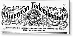 American Federationist Acrylic Print by Granger