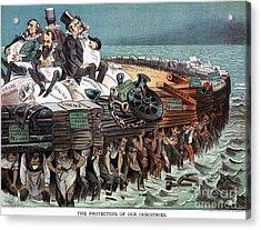 American Financiers, 1883 Acrylic Print by Granger