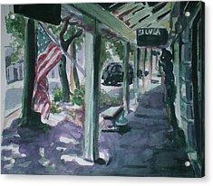American Flag Acrylic Print by Aleksandra Buha