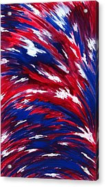 American Flag Acrylic Print by Michael Vigliotti