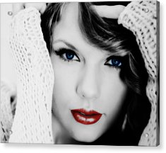 American Girl Taylor Swift Acrylic Print by Brian Reaves