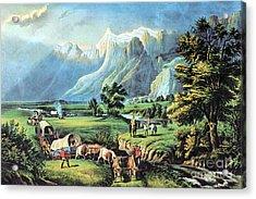 American Manifest Destiny, 19th Century Acrylic Print by Photo Researchers