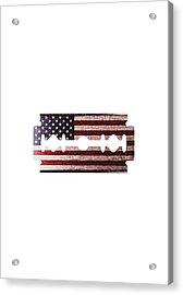 American Razor Acrylic Print by Nicholas Ely