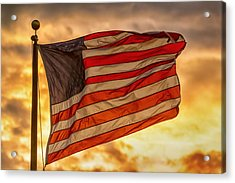 American Sunset On Fire Acrylic Print by James BO Insogna