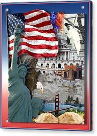 American Symbolicism Acrylic Print by Gravityx9  Designs