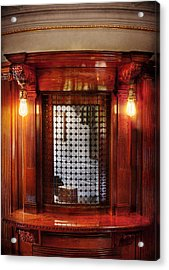 Americana - Movies - Ticket Counter Acrylic Print by Mike Savad