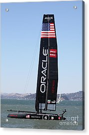 America's Cup In San Francisco - Oracle Team Usa 4 - 5d18225 Acrylic Print by Wingsdomain Art and Photography
