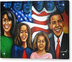 America's First Family Acrylic Print by Jan Gilmore