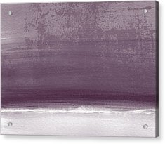Amethyst Shoreline- Abstract Art By Linda Woods Acrylic Print by Linda Woods