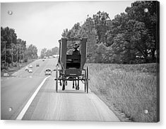Amish Buggy Acrylic Print by Steven Michael