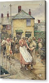 Among The Missing Acrylic Print by Walter Langley