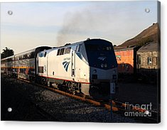 Amtrak Trains At The Niles Canyon Railway In Historic Niles District California . 7d10856 Acrylic Print by Wingsdomain Art and Photography